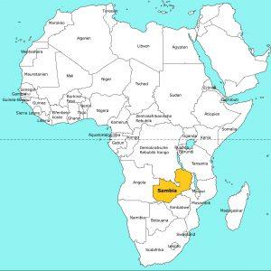 Übersichtskarte Afrika (Sambia)