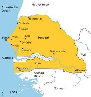 Karte von Senegal